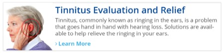 Tinnitus Evaluation and Relief